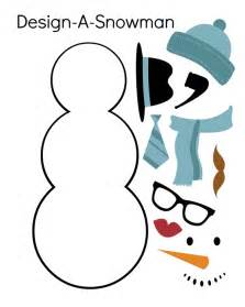 Snowman templates to cut out kids can cut out the snowman