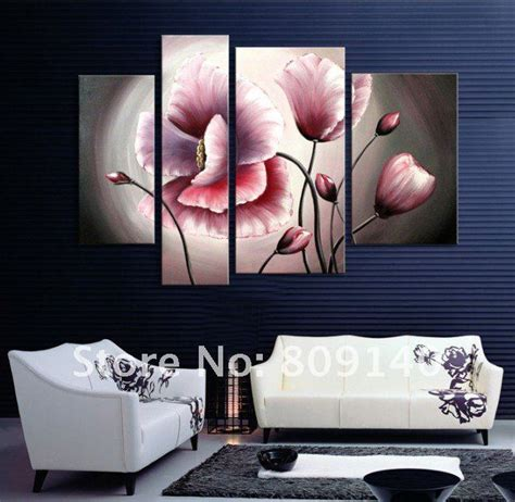 flower painting contemporary abstract canvas