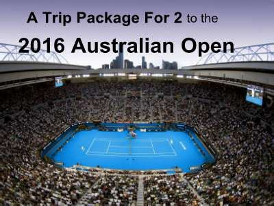 Australian Open Sweepstakes - www tennischannel com aussie sweeps win a trip package for 2 to the 2016