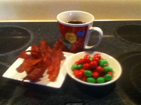 Bacon, M&Ms ( peanut) and coffee   Meals we make and enjoy   Pinterest