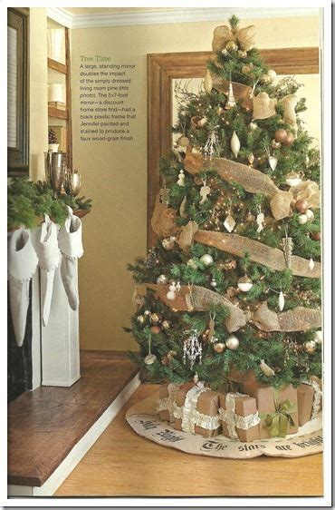 how to decorate a tree with burlap tree decorations with burlap decorating