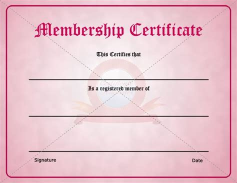 membership certificate template free 15 best images about membership certificate template on