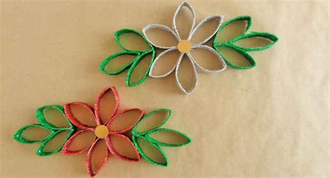 manualidades de navidad para ni os flor de pascua flor de navidad con tubos de papel higi 233 nico