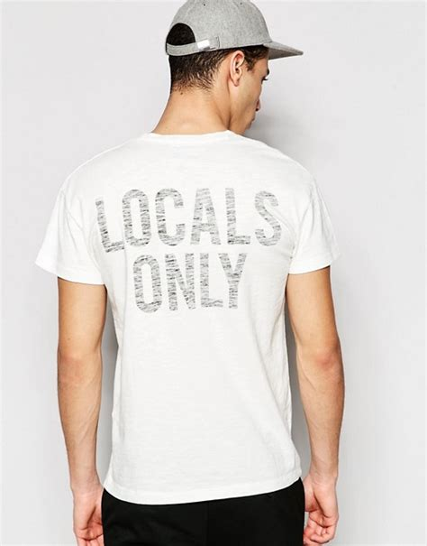 Locals Only selected homme selected homme t shirt with locals only