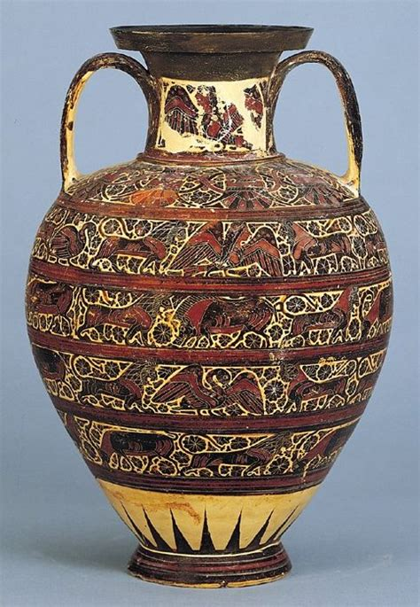 Grecian Vase Crossword by Corinthian Black Figure Hora With Animal Friezes