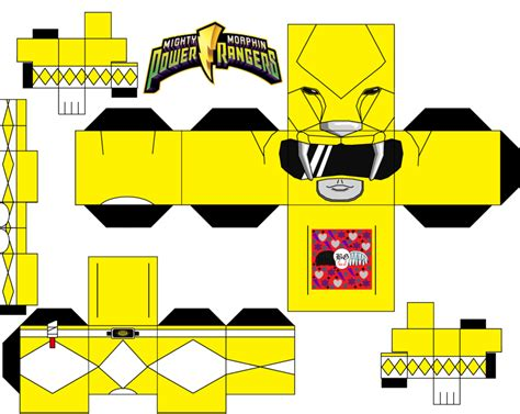 Papercraft Power Rangers - yellow power ranger by guitar6god on deviantart