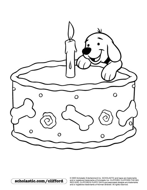 happy birthday puppy coloring pages clifford make do printable