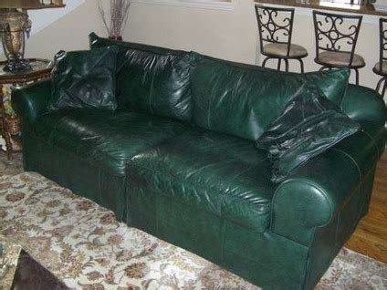 hunter green leather couch 825 ethan allen hunter green couch love seat for sale