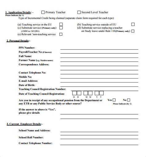 Credit Application Form Printable Credit Application Forms 9 Documents Free In Pdf Word