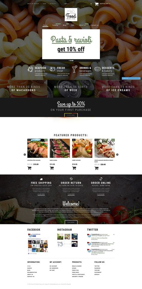 shopify grocery themes 298 best shopify themes images on pinterest template