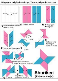 How To Make Shuriken Out Of Paper - 25 best ideas about shuriken on ninjas