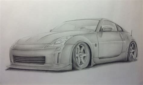 nissan 350z drawing 350z by g rednek on deviantart