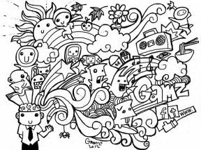 Printable Doodle Coloring Pages free doodle coloring pages coloring home