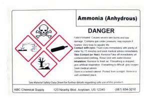 ghs label template msds labels