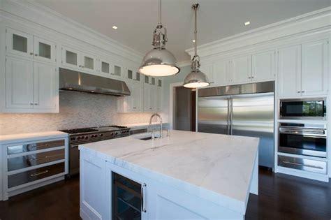 kitchen island with refrigerator wine fridge in kitchen island transitional kitchen