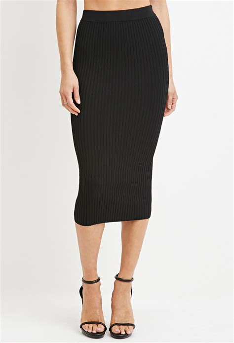 knit pencil skirts forever 21 contemporary ribbed knit pencil skirt in black