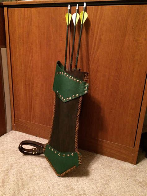 Handmade Leather Quivers - handmade leather quiver green arrow robin legolas