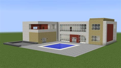 how to build a pool house minecraft how build a great house with pool youtube