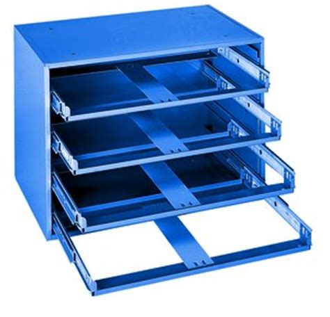 steel drawer cabinet with 60 bin trays 20 1 4 quot w x 12 1 2 quot d x 15 quot h blue 4 drawer large scoop