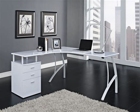 white corner office desk black flooring ideas with nice rug for contemporary home
