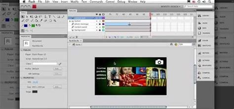 Shortcourse Series Adobe Flash Cs4 how to make website animation in flash cs4 171 adobe flash