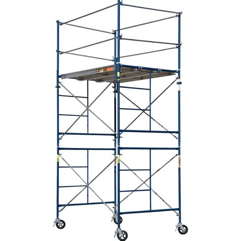 scaffolding sections metaltech saferstack complete 2 section high tower