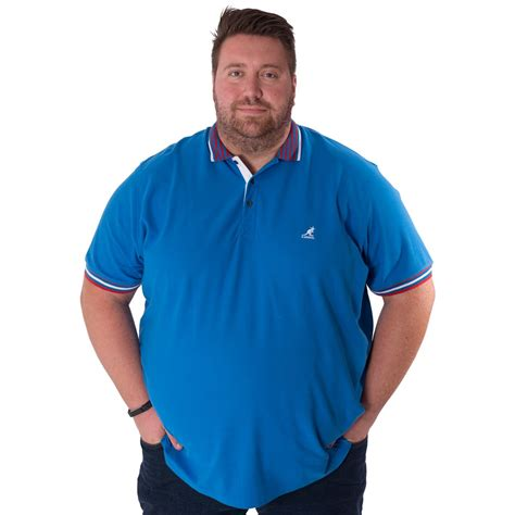 Kaos Pria Bigsize 4xl kangol mens king plus size polo shirt sleeve casual