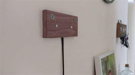 tablet wall mount diy diy tablet wall mount with charging over magnets youtube