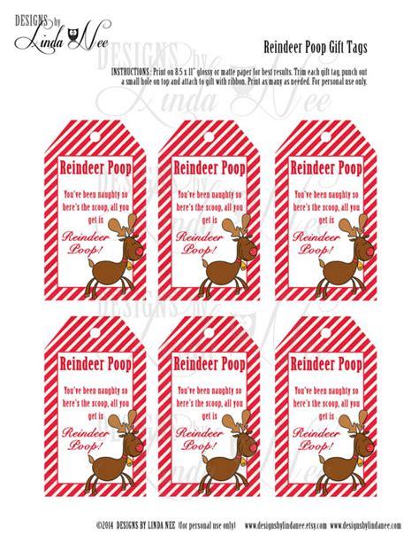 printable rudolph gift tags reindeer poop brights gift tag label printable party