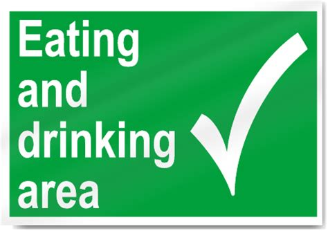 eating area eating and drinking area safety signs signstoyou com