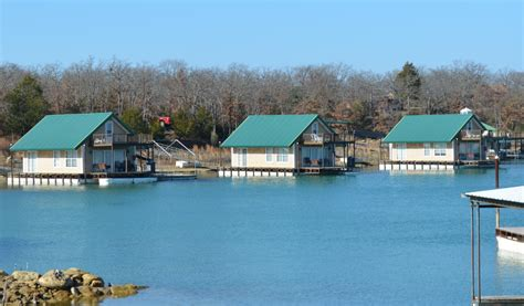 Floating Cabins At Lake Murray by Lake Murray