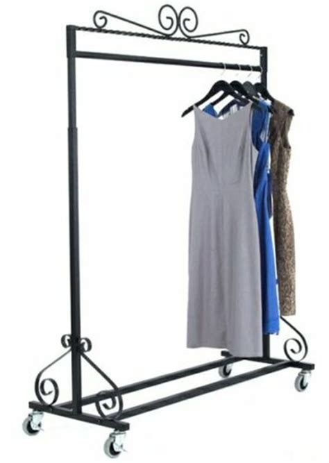 Decorative Clothing Rack by Rolling Garment Rack Decorative Clothing Rack