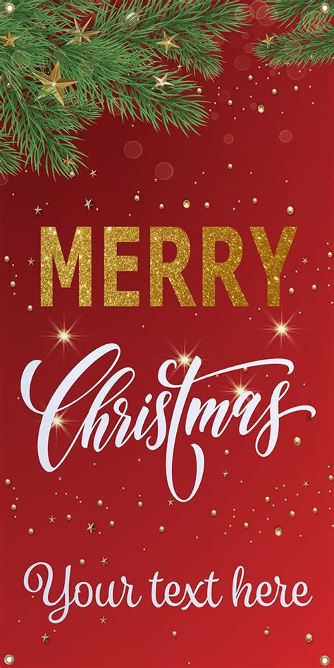 merry christmas hanging business banner custom text