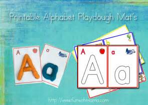 alphabet letter play dough mats numbers and arabic
