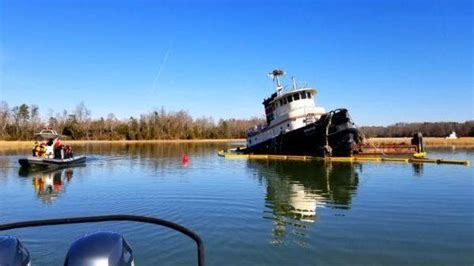 tugboat ketchum official partially submerged tugboat spills oil into