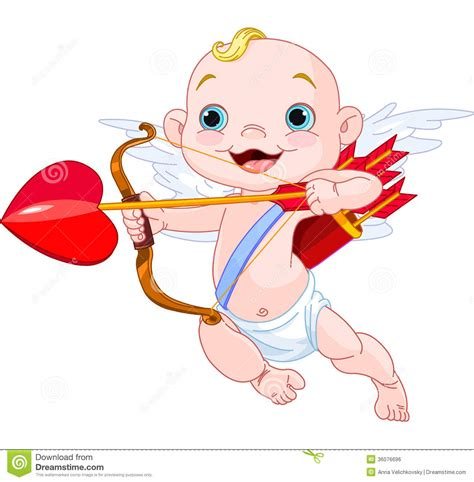 valentines day cupid stock vector image of clipart cupid