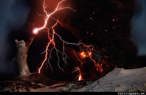 Sweater Tw Volcano lightning cat gallery
