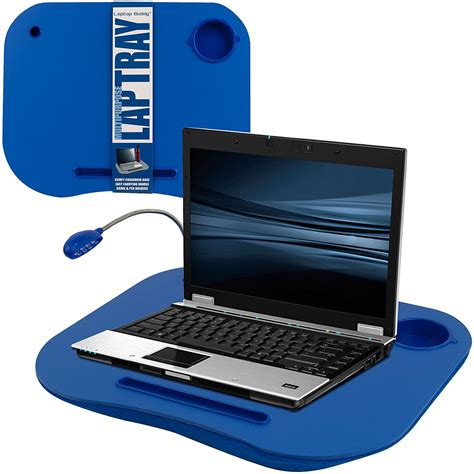 Laptop Desk Tray Laptop Desk Trays Tray Pad Led Light Computer Cup Holder Foam Cushion Soft 1 Ebay