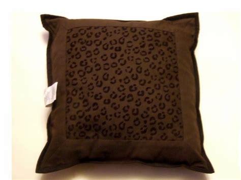 brown cheetah print decorative pillow