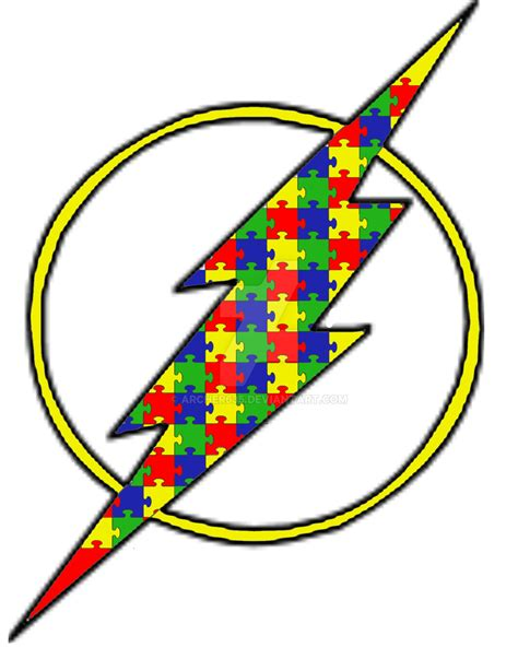 the autism awareness flash symbol by archer635 on deviantart