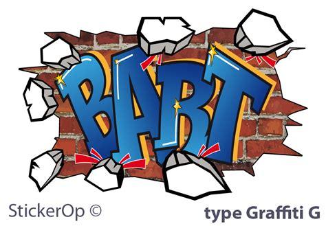 Wall Stickers With Names stickerop graffiti muursticker met eigen naam