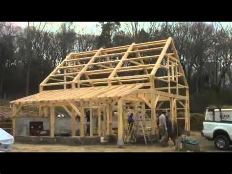 month time lapse post  beam barn  lyme youtube
