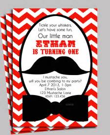mustache invitation printable or printed with free