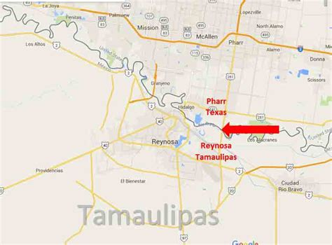 map of pharr texas pharr texas reynosa tamaulipas border crossing on the road in mexico