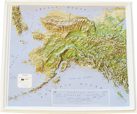 relief map buy alaska relief map flagline