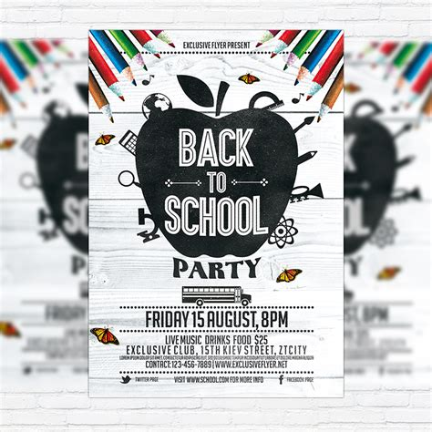 Flyer Decorations Back To School Vol 3 Premium Flyer Template