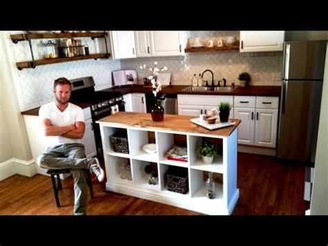 ikea hack kitchen island diy project youtube