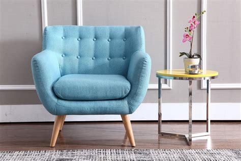 divani casa albany modern blue fabric accent chair l