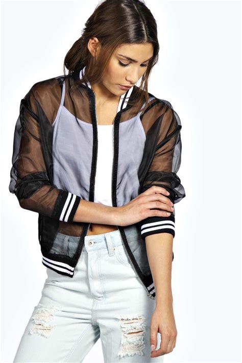 Sheer Jacket alma sheer bomber jacket