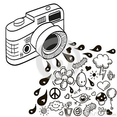 doodle camera stock vector image: 48024833